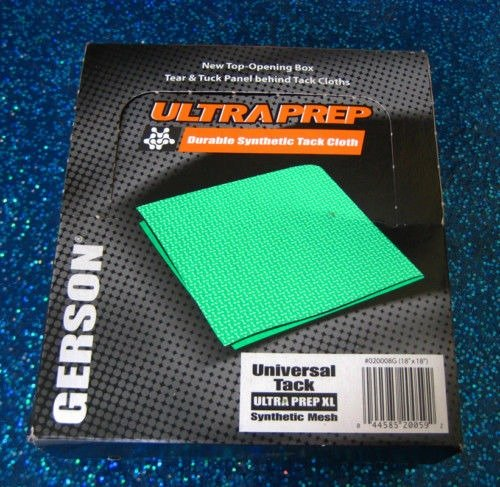 1 BOX GERSON Ultra Prep Green TACK CLOTH - (Prep Tack Cloth)