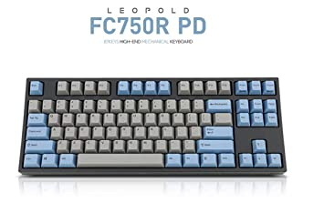 5a66df73e3a Amazon.com: Leopold FC750R PD 87keys High-end Mechanical Keyboard MX cherry  switch 1.5mm PBT (Blue/Grey, Brown Switch): Computers & Accessories