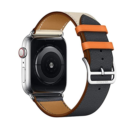 Amazon.com: Leather Strap for Apple Watch Band 42mm 38mm 4 3 ...