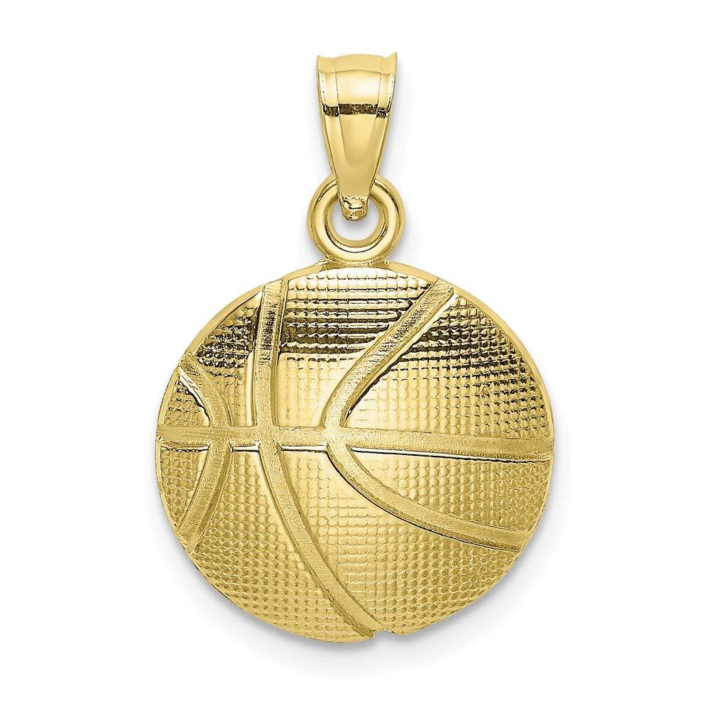 Abalorio de balón de baloncesto con textura de oro amarillo de 10 ...