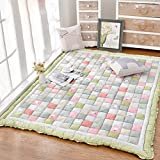 WAN SAN QIAN- Rug Padded Low-pile Home Slip-resistant Carpet Bedroom Rectangular Bedside Rug Children Crawling Mat Rug ( Color : A , Size : 150x200cm )