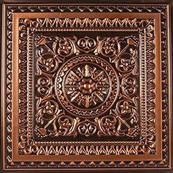 tiles metal ceiling copper