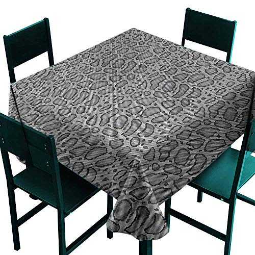 DONEECKL Dust-Proof Tablecloth Reptile Python Skin Hide Pattern Soft and Smooth Surface W63 xL63