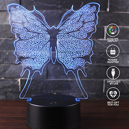 Led 3D Butterfly Night Lights - 9