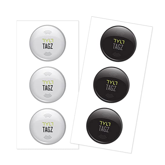 TYLT NFC TAGZ - Retail Packaging - White/Black