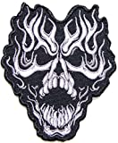 Flame Skull Ghost Master Rider Biker Punk Rock Heavy Metal Tatoo Patch Sew Iron on Embroidered Sign Badge