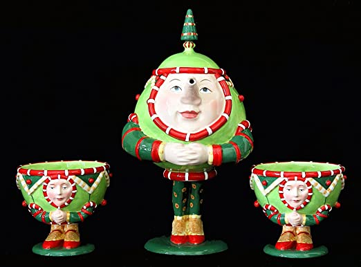 Amazon.com: Patience Brewster Christmas Krinkles Tea Set Retired ...