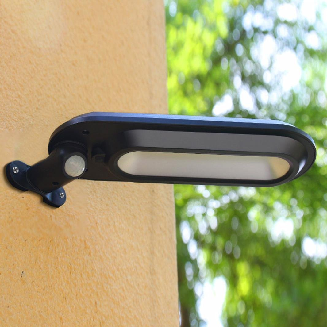 EnjoCho Solar Wall Light,White Light Waterproof Solar Power Motion Sensor Wall Mount LED Light Outdoor Garden Yard Lamp 2018 Hot Selling (Black) by EnjoCho (Image #2)
