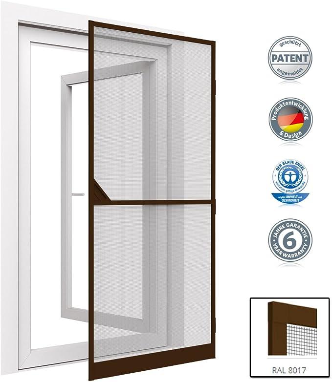 Mosquitera proLINE para puertas con marco de aluminio - adaptable a cualquier puerta - 100x215 cm - Marrón: Amazon.es: Bricolaje y herramientas