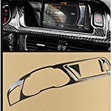 Carbon Fiber Interior Decoration Decal Frame Cover Trim SLine Quattro For Audi A4 S4 2009-2016 LHD (Dashboard Instrument Panel Cluster Meter Cover 17)