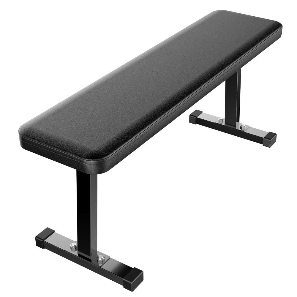 Yaheetech Olympic/Flat/Workout/Standard Weight Bench - Portable Home/Gym Fitness Weight Lifting Bench Utility Weight Bench Black by Yaheetech
