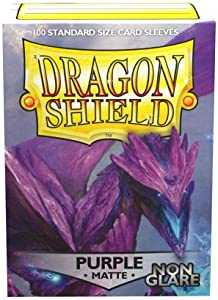 Sleeves: Dragon Shield Matte Purple NonGlare (100), (Model: AT-11809)