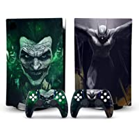 AYTECH Batman and Joker ps5 Skin Sticker Decal Cover for PlayStation 5 Console and two Controllers Vinyl