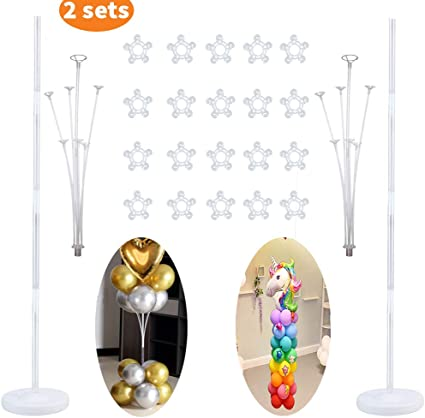 Balloon Column Stand Set for Birhday Party Decoration with 20 Balloon Clips