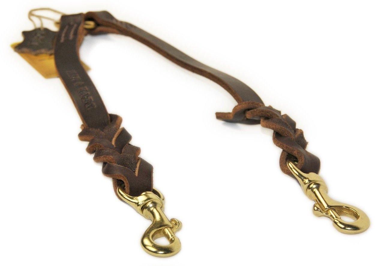 Dean & Tyler Double Dutch Brass Snap Leash, 3-Feet by 3 4-Inch, Brown
