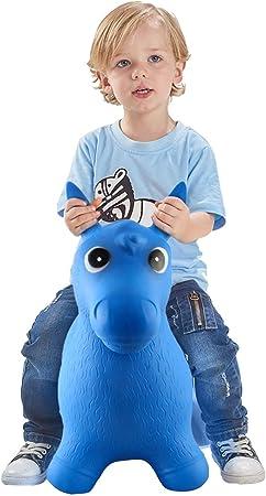 Amazon.com: Caballo hinchable para niños pequeños, balancín ...