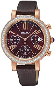 Watch For Women By Seiko Leather Band, Chronograph - SRW018P