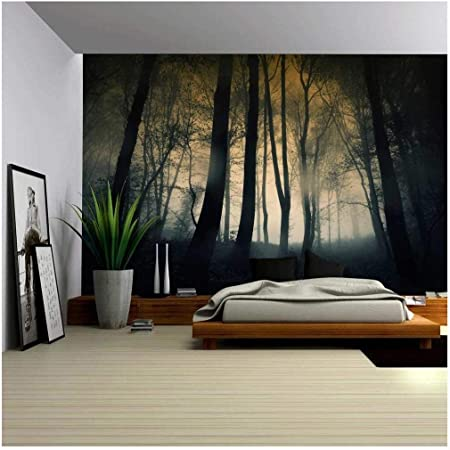 Wall26 Dark And Ominous Forest Wall Mural Removable Sticker Home Decor 100x144 Inches Amazon Com