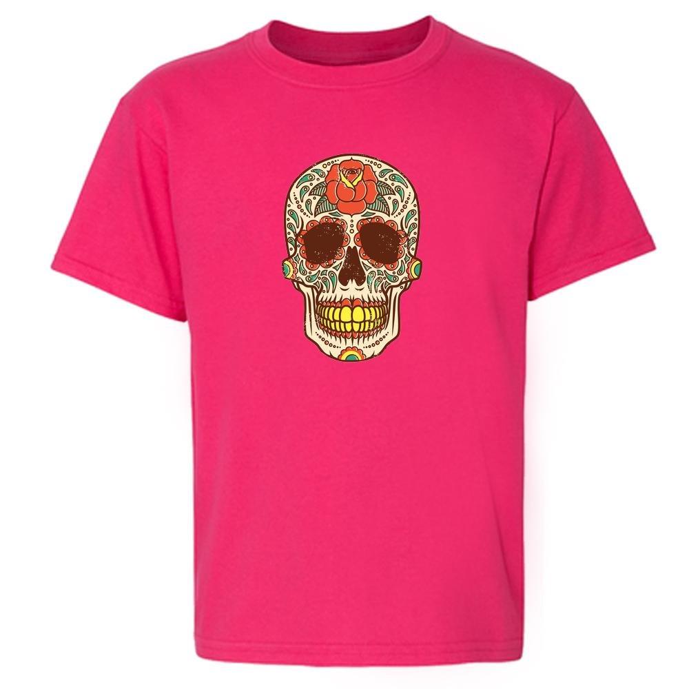 Rose Sugar Skull Toddler Short Sleeve Kids T-Shirt Baby/Toddler/Little Kid
