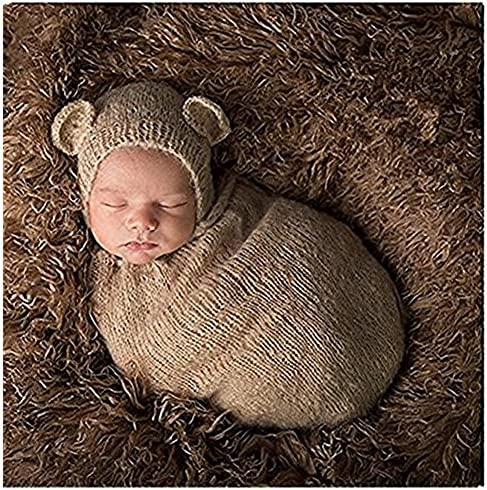 b54ca72c083 Newborn Baby Photography Props Boy Girl Crochet Costume Outfits Cute Hat  Sleeping Bag