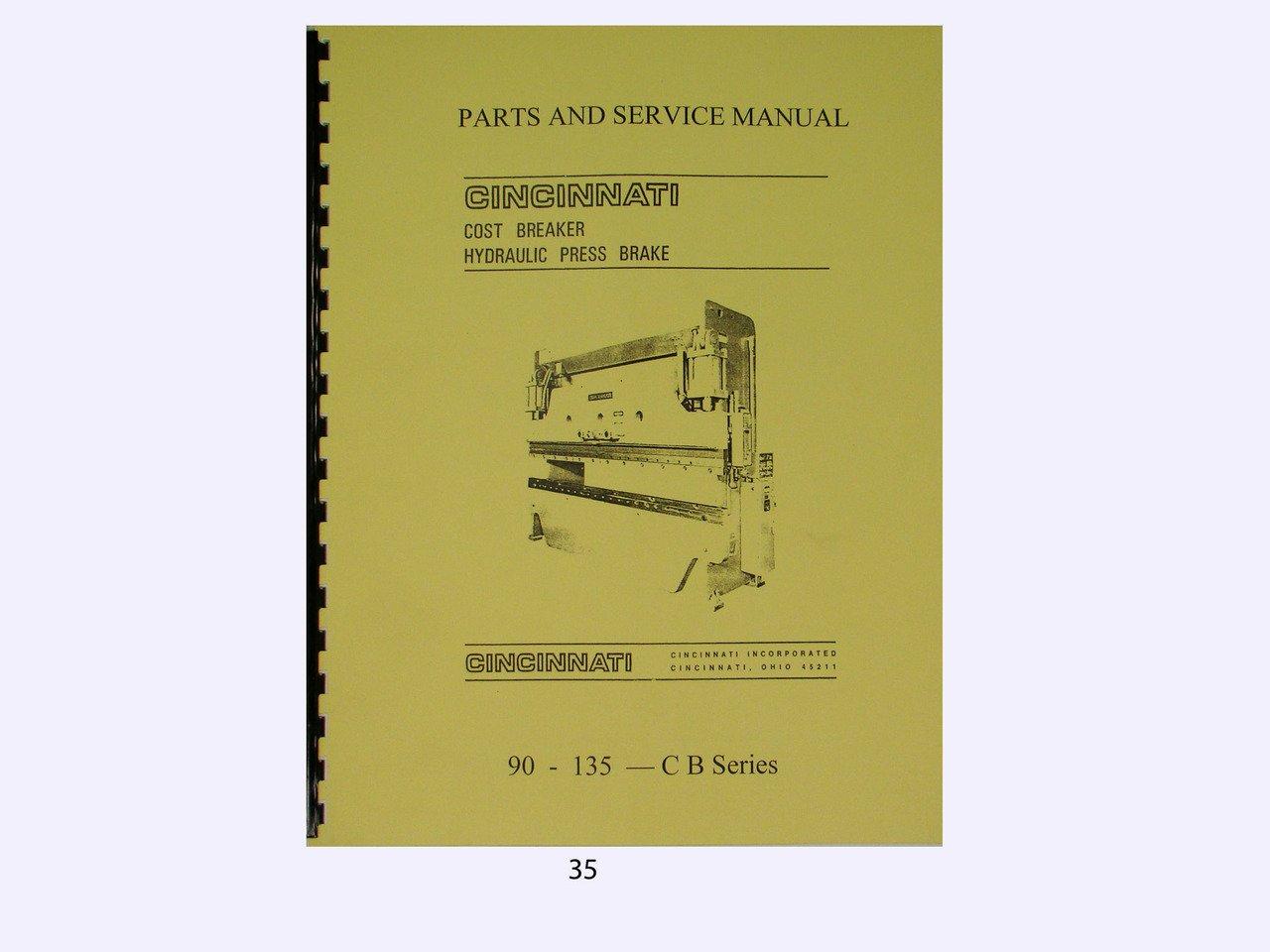 Cincinnati Cost Breaker Hydraulic Press Brake 90-135CB Series Manual