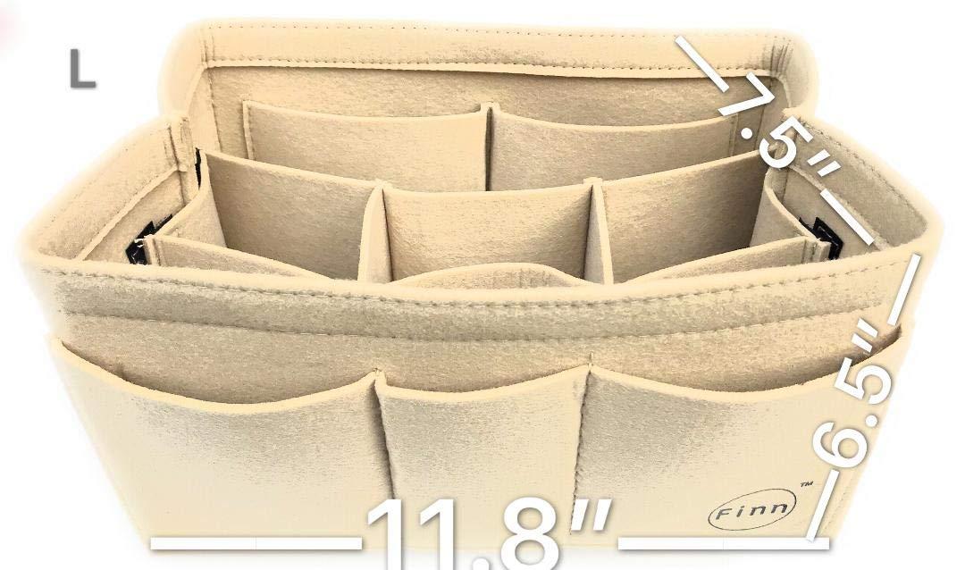 Felt Insert Bag Organizer For Totes/Handbag / Backpack (Large Tote/Handbag, Beige)