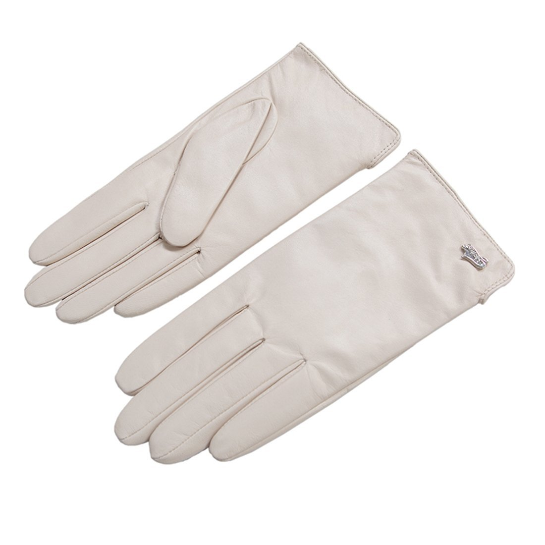 Nappaglo Nappa Leather Gloves Warm Lining Winter Multicolor Imported Leather Lambskin Gloves for Women (S, Beige)