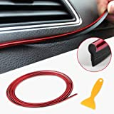 Car Interior Strip Decoration, Hamkaw 5m Car Interior Decoration Strip, Door Window Edge Seal Guard Protector With Trim Tool