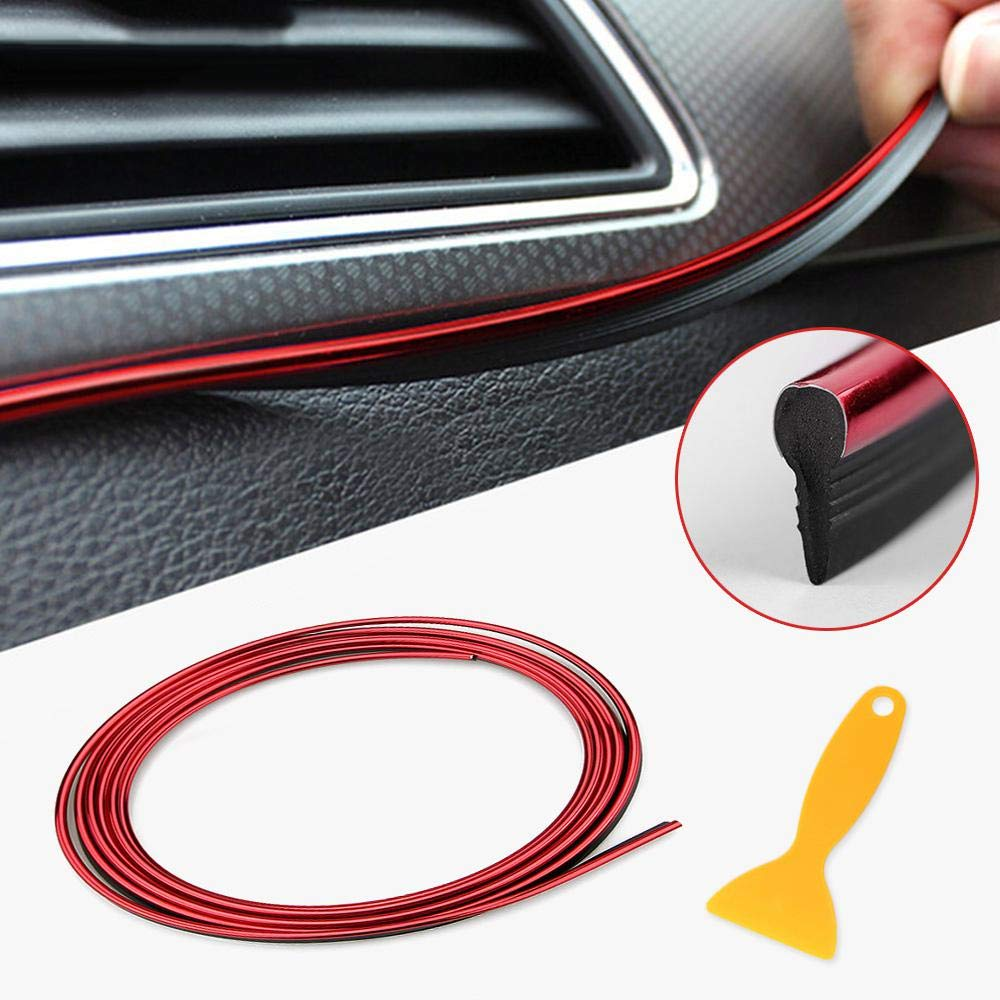 Flexible 5m Car Interior Decoration Strip Door Window Edge Seal Guard Protector With Trim Tool Hamkaw Car Interior Motor Exterior Decoration