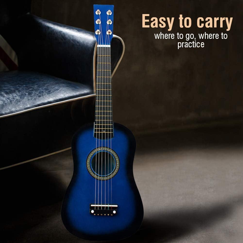 Wakects 21 Zoll Blau Kinder Gitarre Klassische-Kleine-Gitarre als Geschenk F/ür Anf/änger ab 4 Jahr Massivhol