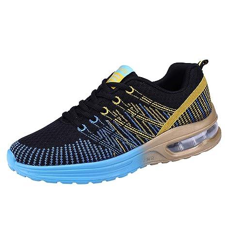 JiaMeng Hombre Zapatillas de Senderismo Deportivas Aire Libre y Deportes Casuales de Malla Zapatillas para Correr con Fondo Suave Zapatillas de Deporte: ...