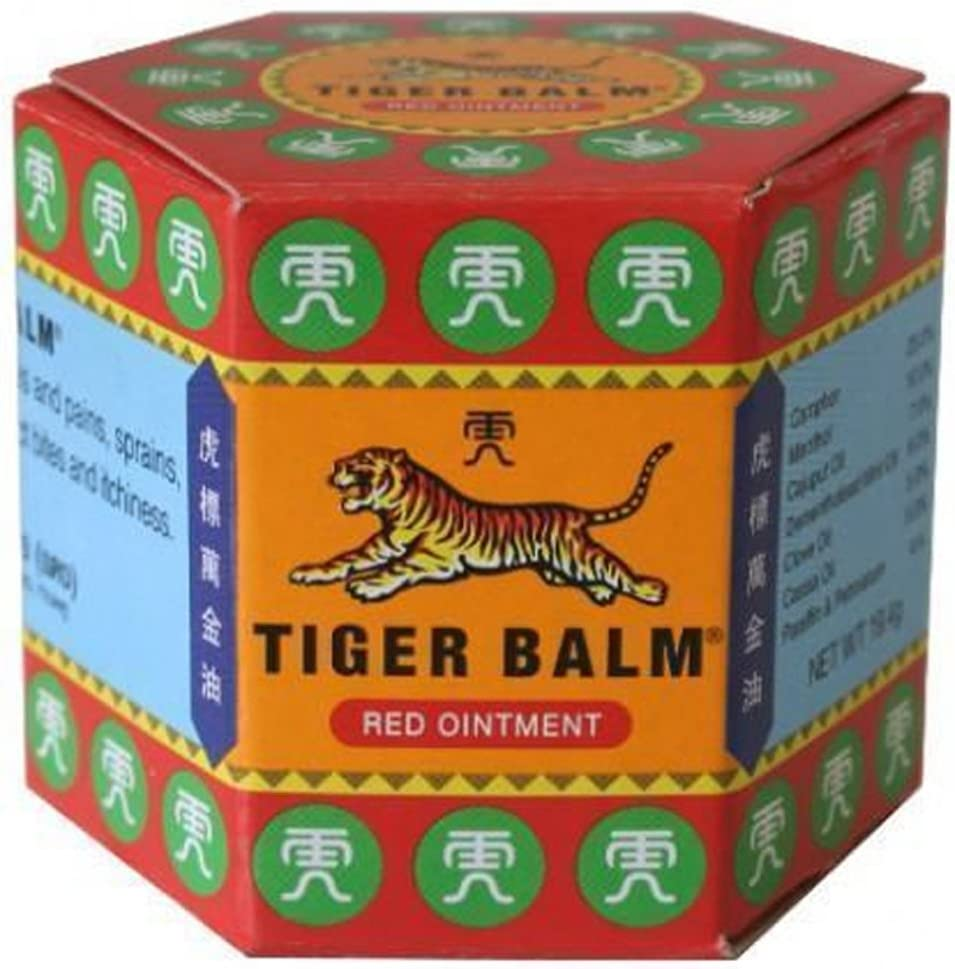 Tiger Balm Red Extra strength Herbal Rub Muscles Headache Pain Relief Ointment, 19.4g