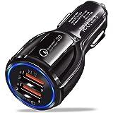 Carregador Turbo Veicular Qualcomm 3.0 Nova Tecnologia Porta USB Dupla Para Dispositivo Celular Compatível Tablet Iphone X 8