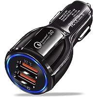 Carregador Turbo Veicular Qualcomm 3.0 Nova Tecnologia Porta USB Dupla Para Dispositivo Celular Compatível Tablet Iphone…
