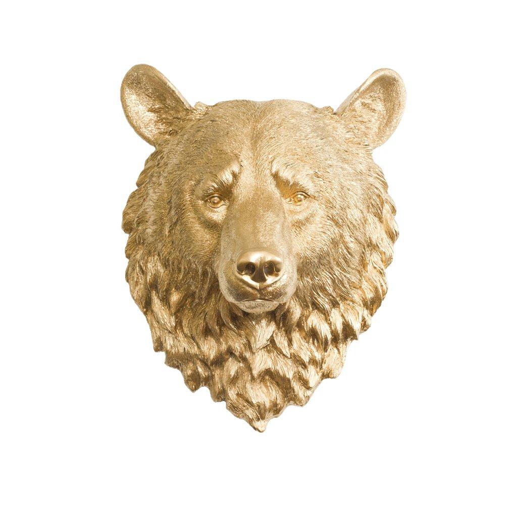 Amazon.com: Wall Charmers Learge Faux Bear Head by Bear Decor Room ...