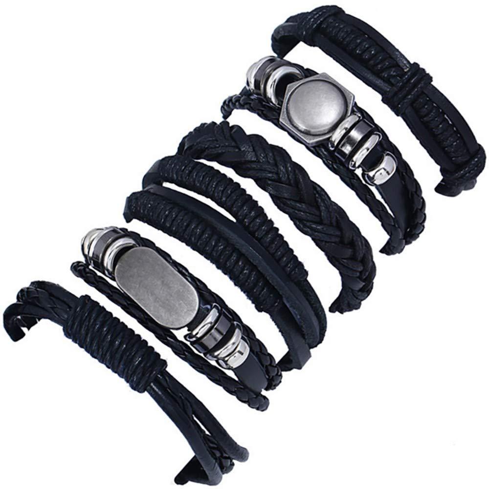 Ciyoon Jewelry Bracelets Bright Bracelet Waterproof Handmade Charm Hand-Woven Multi-Layer