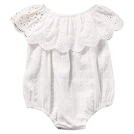 Wang-RX Summer Newborn Toddler Baby Girl Lace Romper ...
