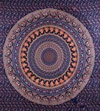 eSplanade Mandala Tapestry Ombre India , Queen Indian Mandala Picnic Blanket Bed Sheed Bedspread.