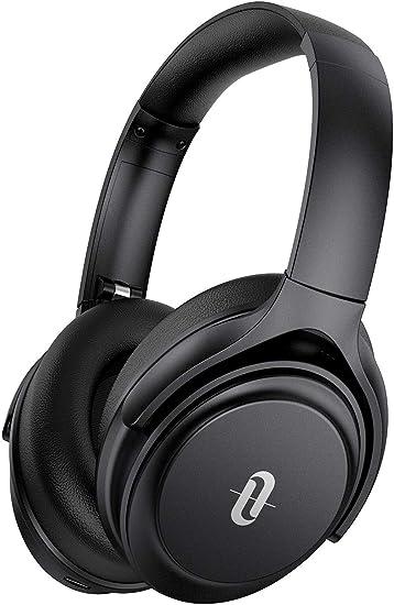 Amazon Com Active Noise Cancelling Headphones Taotronics Bluetooth Headphones Over Ear Wireless Headphones 40h Playtime Type C Fast Charging Bluetooth 5 0 Cvc 8 0 Mic For Online Class Black