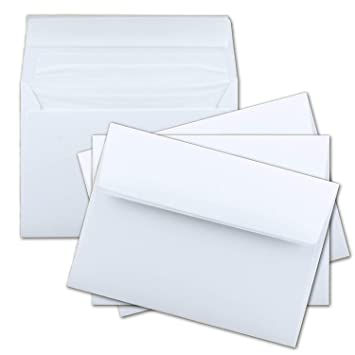 100x Brief Umschläge Weiß Gefüttert Mit Haftklebung Din C6 Format