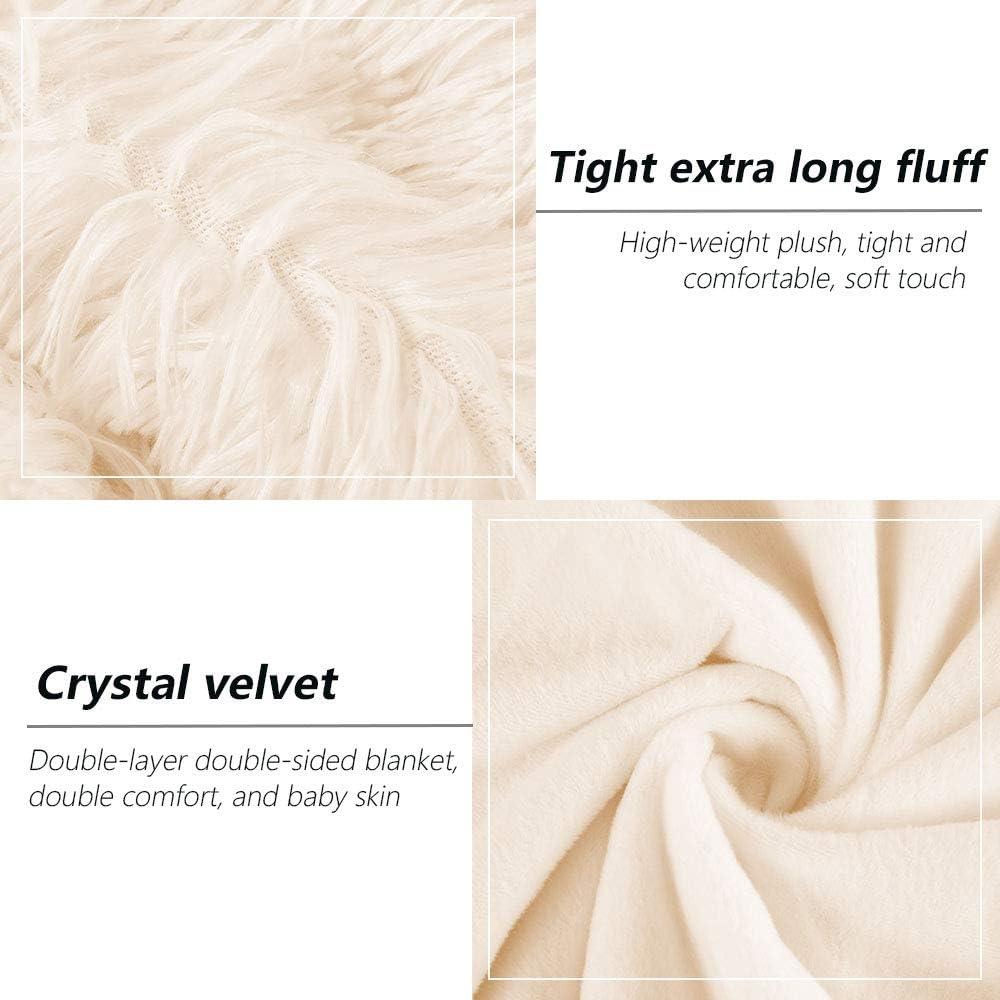 Rose, 130 x 160cm willkey Couverture Polaire Doux Long Double Face Flanelle Confortable Chaude /Él/égante en Peluche Fuzzy Canap/é Lit Double King Hiver