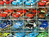 Pixar 100 Car Display Case Side Angled Mirror Back and Compartments