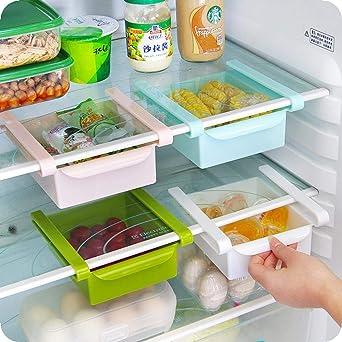 Cajón Deslizante de Nevera Organizador de Refrigerador Contenedor ...