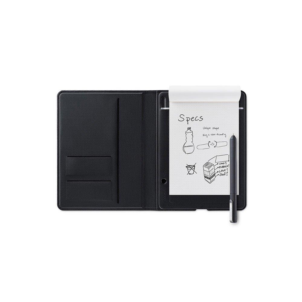 Wacom Bamboo Folio A5 - Bloc-notes connecté, à rabat, pour l'écriture et le dessin - Compatible avec tablettes et smartphones sous iOS et Android - Stylet inclus