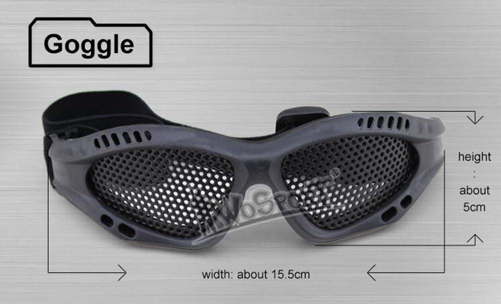 OAREA Taktische Skibrille Sonnenbrille Outdoor Schutz Mit Metall Stahl Mesh f/ür CS Krieg Spiel Airsoft Paintball Sicherheit Brillen