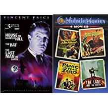 Vincent Price + Midnite Movies The Land That Time Forgot / The People That Time Forgot / Panic in Year Zero / The Last Man on Earth + The House on Haunted Hill / The Bat / Last Man on Earth Film Set