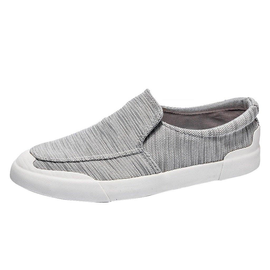 YaNanHome Espadrilles Sommer Neue Stil Canvas Schuhe Herren Freizeitschuhe Jugend Pole Fashion Board Schuhe (Color : Gray  Size : 41) Gray