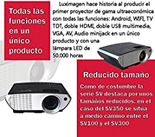 Proyector FULLHD modelo (2018)  Luximagen SV350, Android, Wifi, TV TDT, AC3, LED, compatible con PS4, Switch, Xbox One (Con TDT, Wifi, color negro)