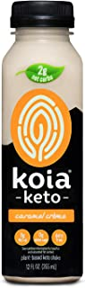 product image for Koia Keto - Ready To Drink Plant Protein Keto Shake (12 oz) - Caramel Creme - Dr. Axe Ketogenic Diet Approved, C8 MCT Oil, Low Net Carbs, Dairy Free, Gluten Free, Soy Free, Non GMO, Kosher, Vegan