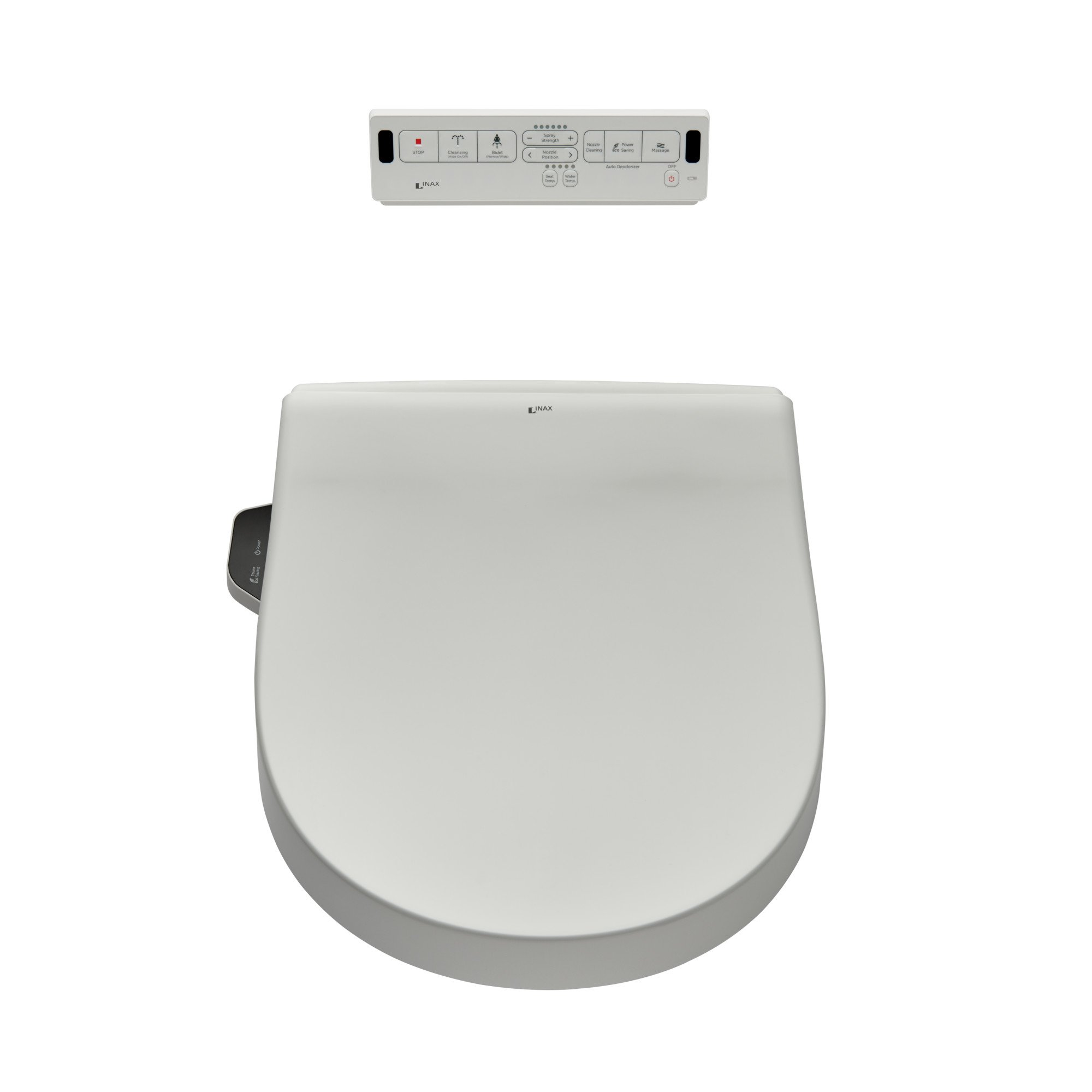 INAX 8012A70GRC-415 Heated Shower Toilet Bidet Seat with Remote Control + Dual Nozzle, White by INAX (Image #1)